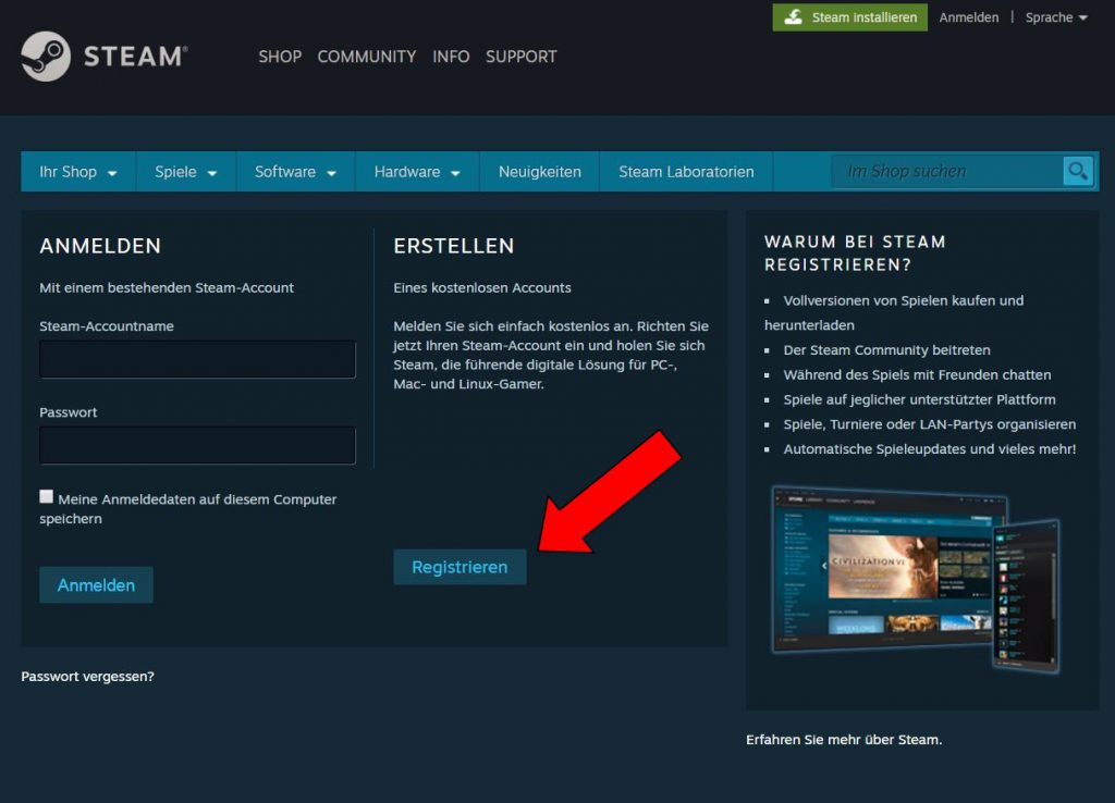Steam Account erstellen2