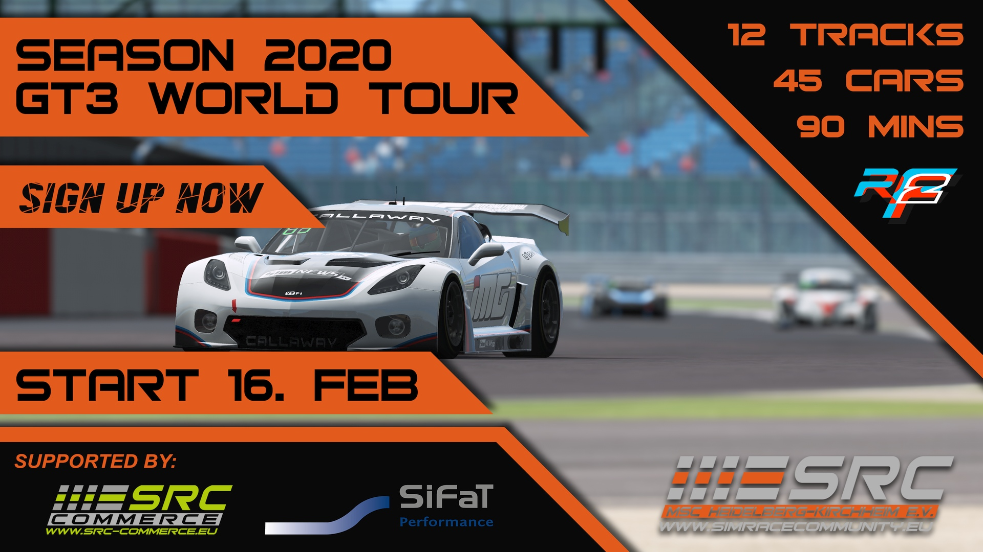 SimRacing GT3 World Tour, Simulation, Community, Event