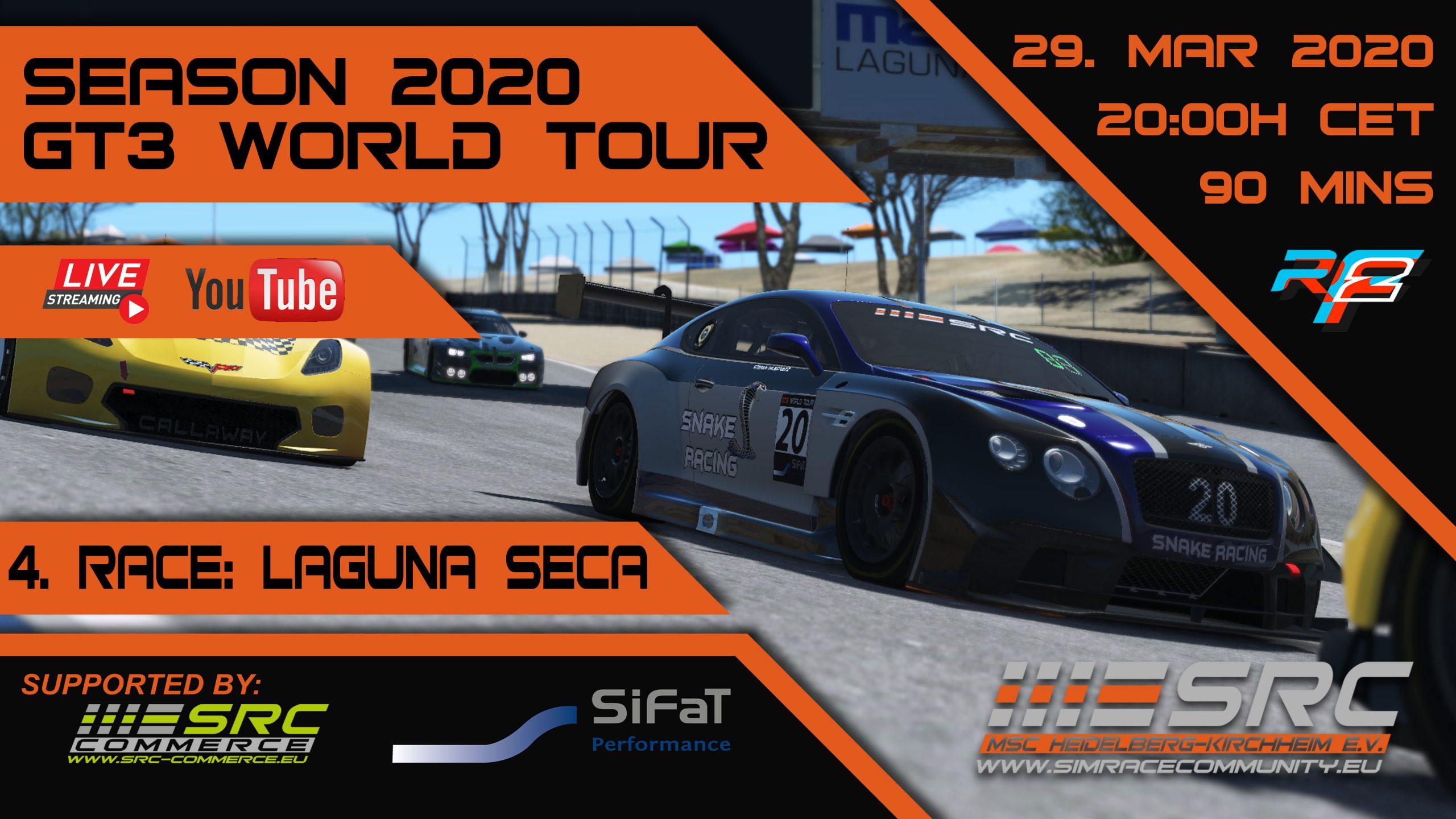 SimRacing GT3 World Tour, Simulation, Community, Laguna Seca
