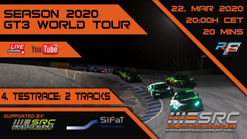 SimRacing GT3 WorldTour, Laguna Seca, Testrace, Mercedes, MCLaren