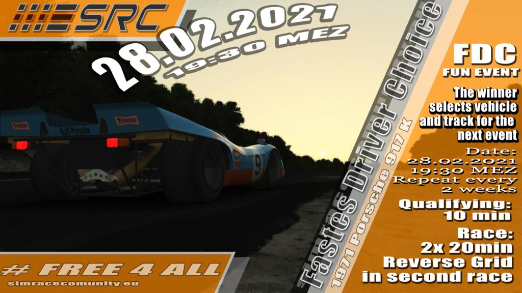 Fastest Driver Choice Round 2